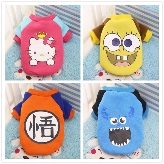 FopPet  Cartoon New 2017 Autumn Winter Cute little animal design pet dog clothes warm soft cotton cat clothing dogs clothing