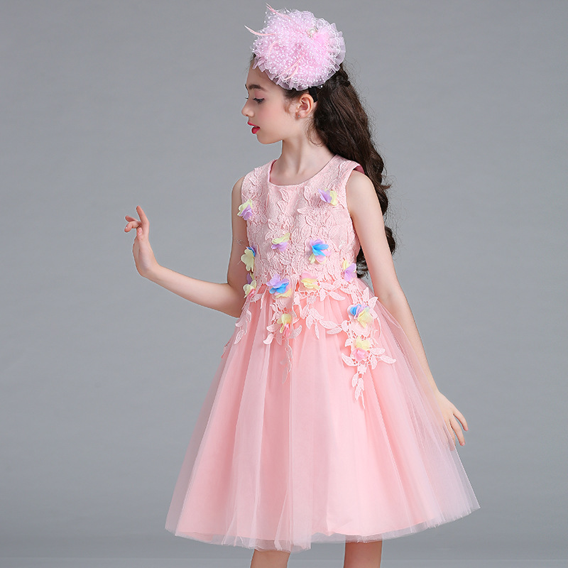 New Arrival Violet Tulle Exquisite Flower Princess Girl Dress Baptism Party Wedding Birthday Gown Kids tutu Dress