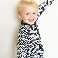 Unisex Newborn Baby Black And White Pajamas Body Suits Fashion One Piece Romper Jumpsuit Infant Baby