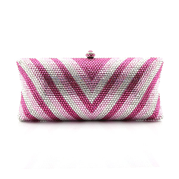 Pink And Sliver Evening Bags Luxury Diamond Women Day Clutch Bags Purses Wedding Party handbags Bags(1007-GP9)