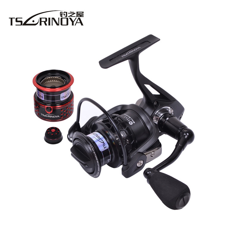 Tsurinoya TSP2000 Full Metal 12BB 5.2:1 260g 2 Spools Spinning Fishing Reel Lure Reels All Metal Rock Wheel Rock Reel