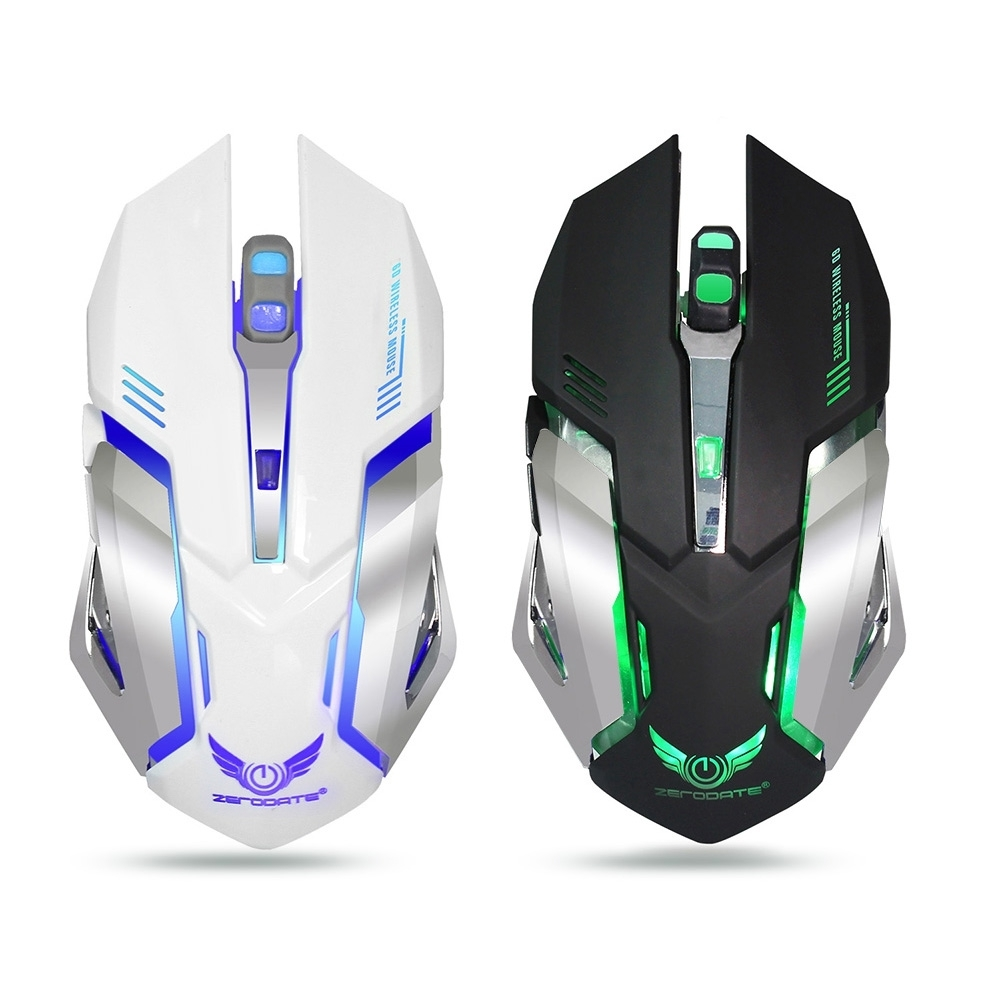 ZERODATE X70 Dual mode Gaming Mouse 2400DPI Wired + Wireless Mouse ...