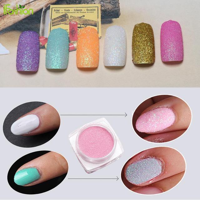 1pcs Box 2g Shinning Nail Glitter Magic Powder Shimmer Colorful Nails Pigment Art Decorations