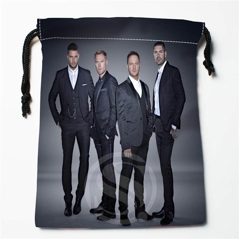J w61 New Boyzone Custom Printed receive Bag Compression Type drawstring bags size 18X22cm W725 Du61W