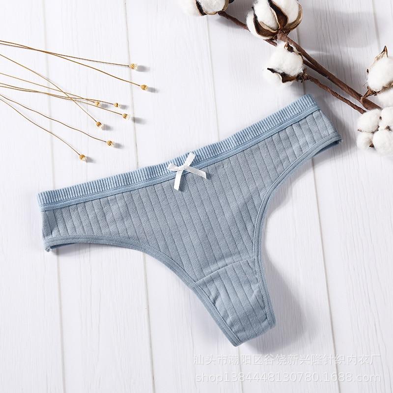 Female Panties Sexy Lingerie Women's Cotton G-String Thong Panties String Underwear Women Briefs Pants Intimate Ladies Low-Rise