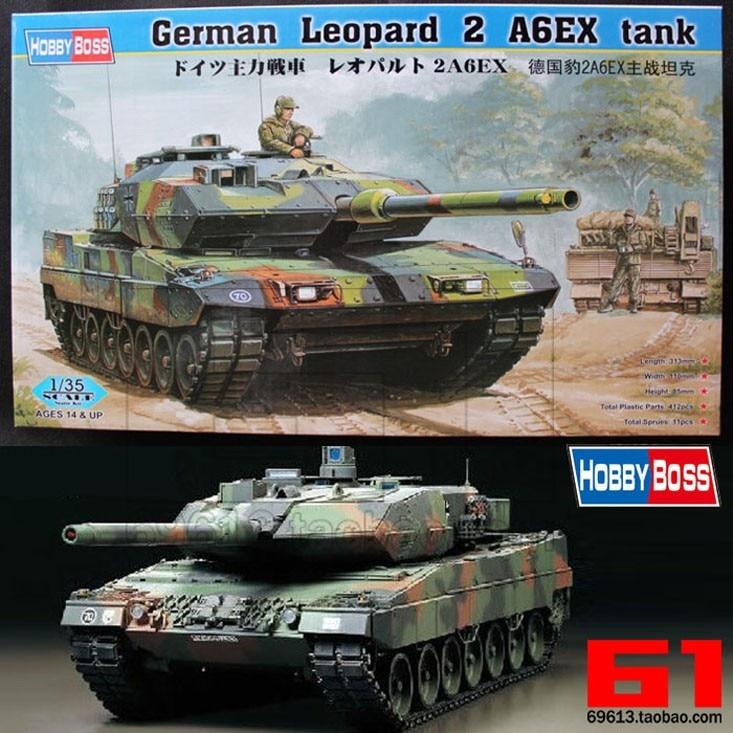 1 35 Scale German Leopard 2A6 Main Battle Tank DIY Plastic Assembling Model Toy