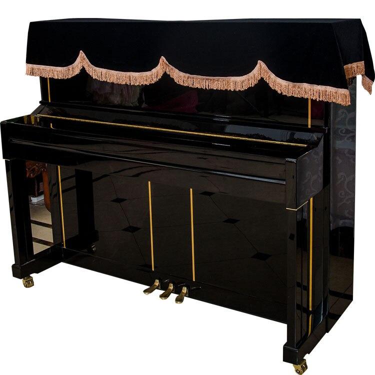 Rote Klaviertastatur Schutzhülle Tastenabdeckung Stoff für Klavierzubehör