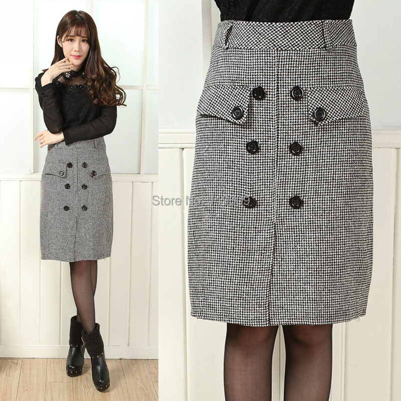 Womens Skirts Plus Size Casual Pencil Skirts Autumn And ...