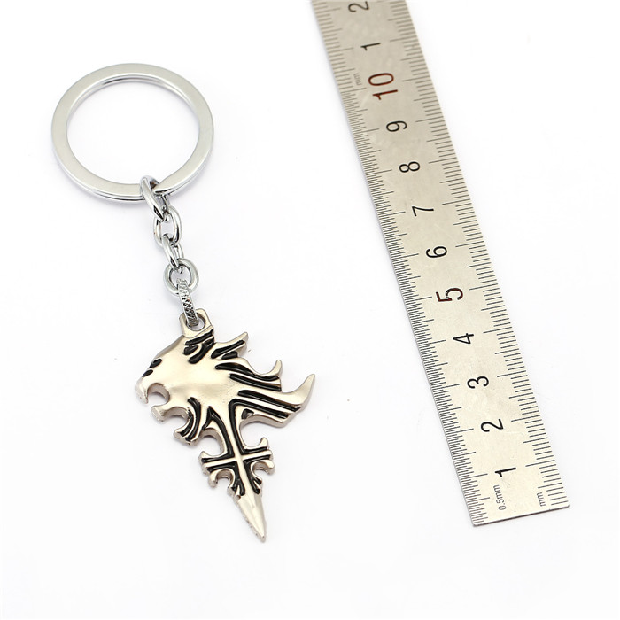New 2 style final fantasy 10 keychain sleeping lion heart squall new 2 style final fantasy 10 keychain sleeping lion heart squall griever pendant key chain ring souvenir fashion accessory gift in key chains from jewelry aloadofball Image collections