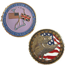 Custom metal double-sided coin low price American flag coin with velvet box custom double sided logo coin new electroplated gold coin high quality low price