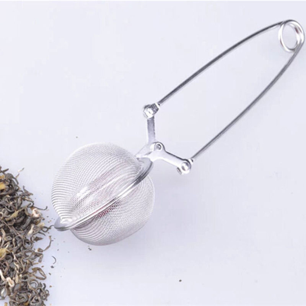 Sphere Mesh Tea Strainer Stainless Steel Handle Tea Ball Tea Infuser Kitchen Gadget Coffee Herb Spice Filter Diffuser