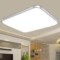 Светодиодный потолочный светильник 24 Вт квадратная энергосберегающая лампа для спальни гостиной 88 WWO66