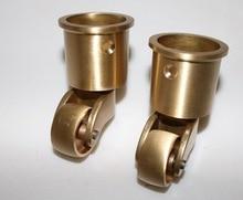 4PCS/LOT  Wheel D:25MM Copper Piano Caster Wheels Furniture Hardware