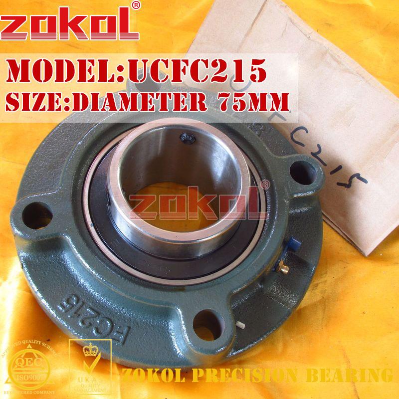 ZOKOL bearing Flange Cartridge Bearing Units UCFC215 TY90515Y Pillow Block Ball Bearing diameter 75mm деревянные лыжи tisa 90515 top universal 177