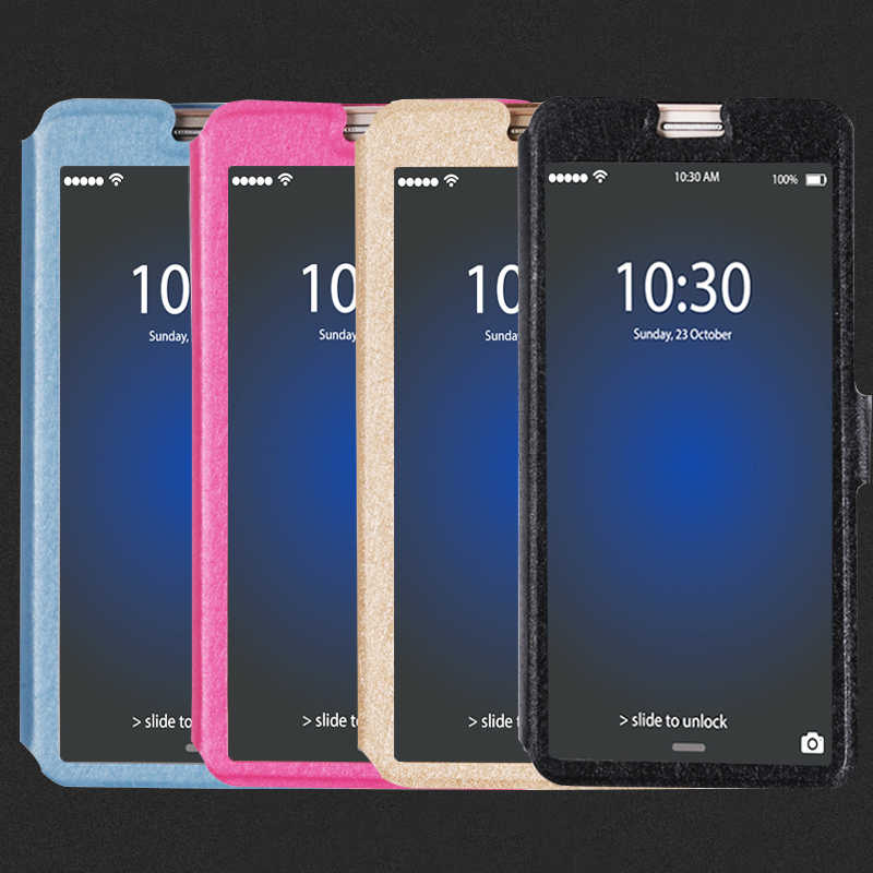 Flip Window View Cover Voor Zte Nubia Z11 Z17 Mini S Z 11 Max Z17S Stand Transparant Phone Case Voor z18 Mini Z7 Z9 Z11 Max