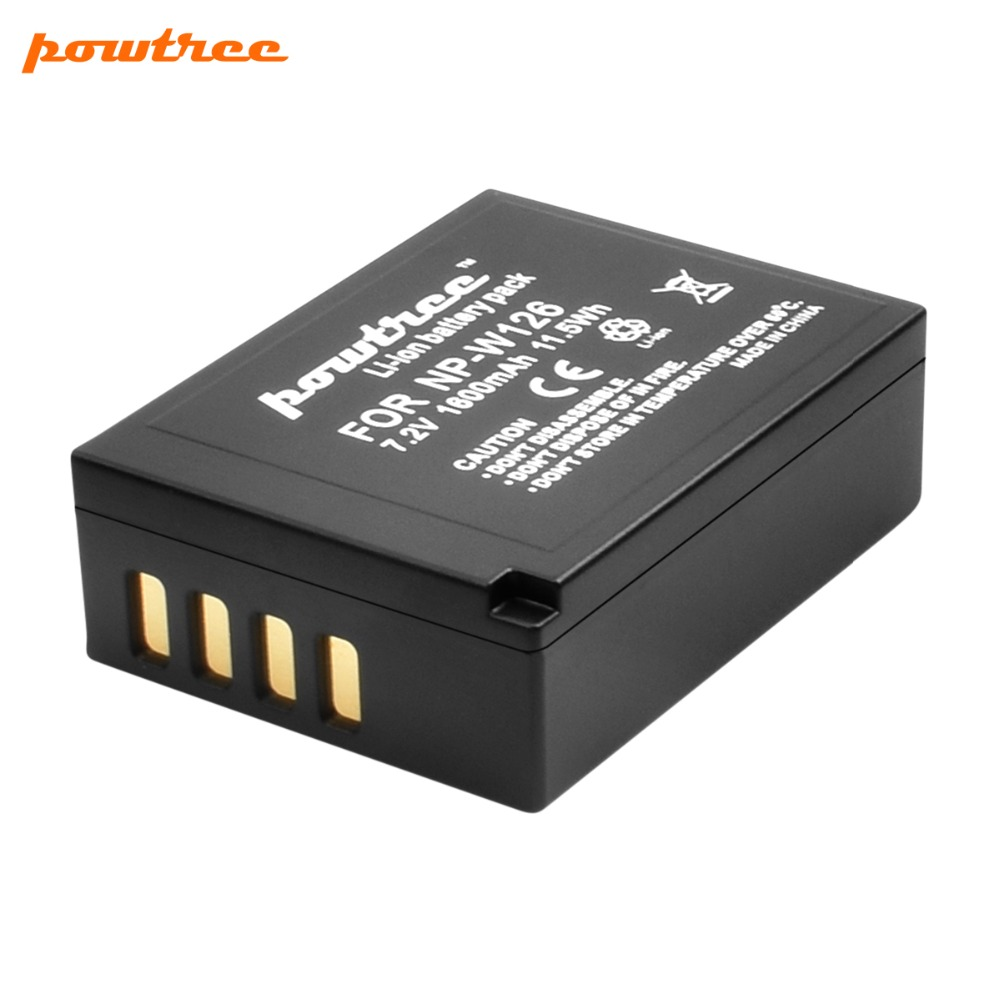 7.2V 1600mAh Li-ion NP-W126 Camera Battery For Fujifilm FinePix HS30EXR HS33EXR X-Pro1 X-E1 X-E2 X-M1 X-A1 X-A2 X-T1 X-T10 L15