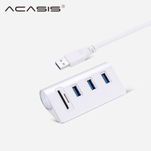 Acasis All in 1 USB HUB High Speed Usb 3.0 Hub 3 Port Micro USB Power Interface with TF SD Card Reader for MacBook Air Laptop PC new 3 in 1 card reader usb camera connection hub for u disk sd tf for ipad mini 4 5 air usb hub card reader