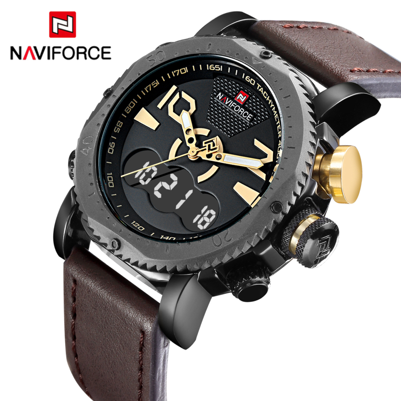2017 New Luxury Brand NAVIFORCE Fashion Men Sports Watches Men's Quartz Clock Male Casual Leather Army Military Wrist Watch naviforce luxury brand date japan movement men quartz casual watch army military sports watch men watches male leather clock