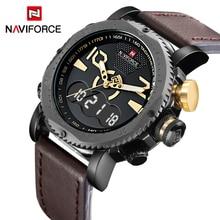 2017 New Luxury Brand NAVIFORCE Fashion Men Sports Watches Men's Quartz Clock Male Casual Leather Army Military Wrist Watch