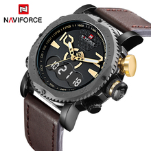 2017 New Luxury Brand NAVIFORCE Fashion Men Sports Watches Men's Quartz Clock Male Casual Leather Army Military Wrist Watch