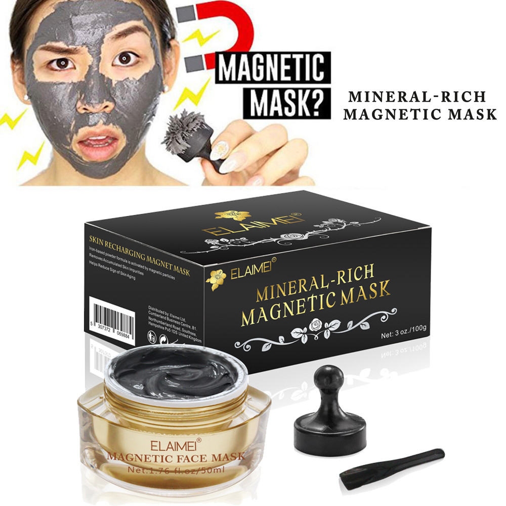 Dazzling Girl Store Health and Beauty Black Color Mineral Rich Magnetic Face Mask Pore Cleansing Removes Skin Impurities