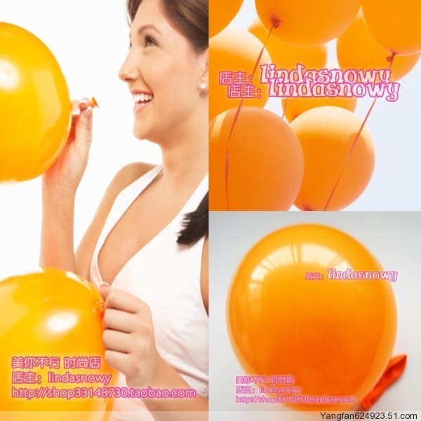 Balloon style circle to balloons birthday transparent orange 10 thick matt 20