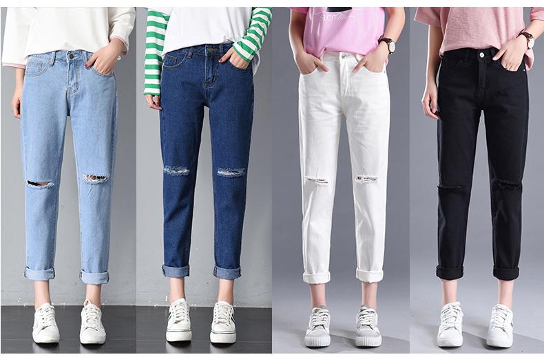 HTB1jv HSpXXXXbfXXXXq6xXFXXXW - Women High Waist Jeans Ripped Solid JKP127