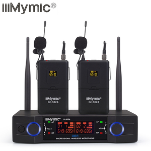 Image 2 - IiiMymic IU 302A UHF 600 700MHz برو ثنائي القناة ميكروفون لاسلكي 2 Bodypack + 2 التلبيب و 2 سماعة ميكروفون نظام ل DJ كاريوكي