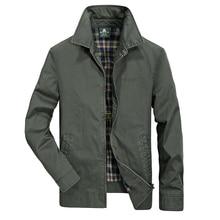 Plus größe 4XL Herbst Frühling AFS JEEP freizeitjacke männer drehen-unten kragen military jacke männer breite taille casaco masculino