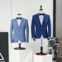 Props male half body mannequin showcase suit men's clothing display mannequin men fabric mannequin with wooden arms