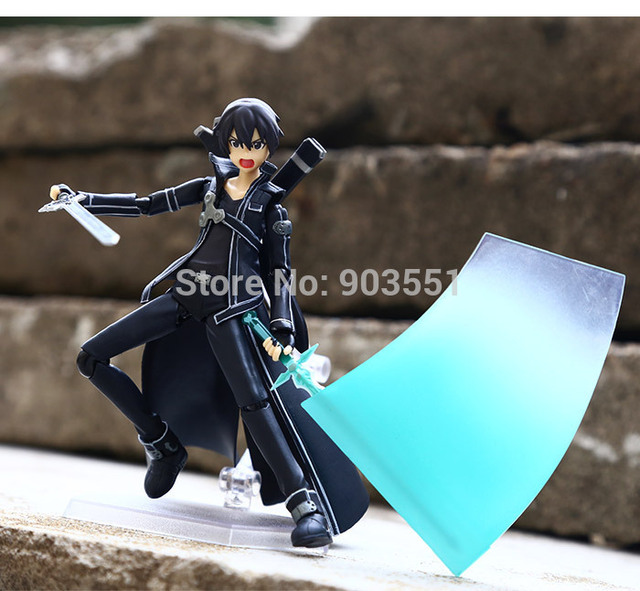 Anime Sword Art Online Figma Kirito Asuna Figure PVC Action Figure Collection Model kids Toy 2