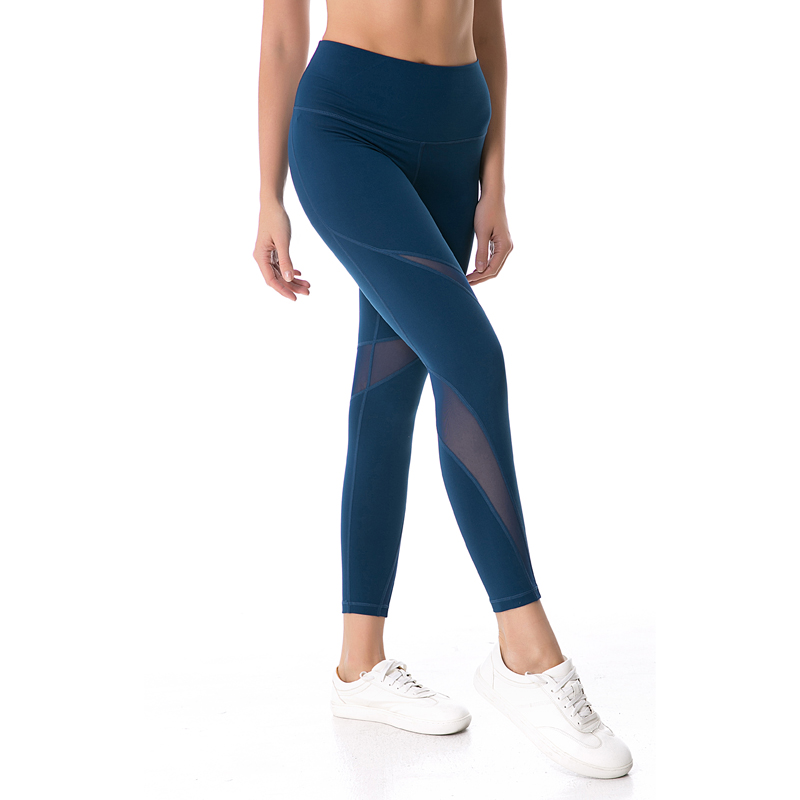 388991fcd8c307 Nepoagym Women Mesh Panel Sport Pant Squat Proof Yoga Leggings Sports  Tights Moisture wicking Fitness Workout Pant-in Yoga Pants from Sports &  Entertainment ...
