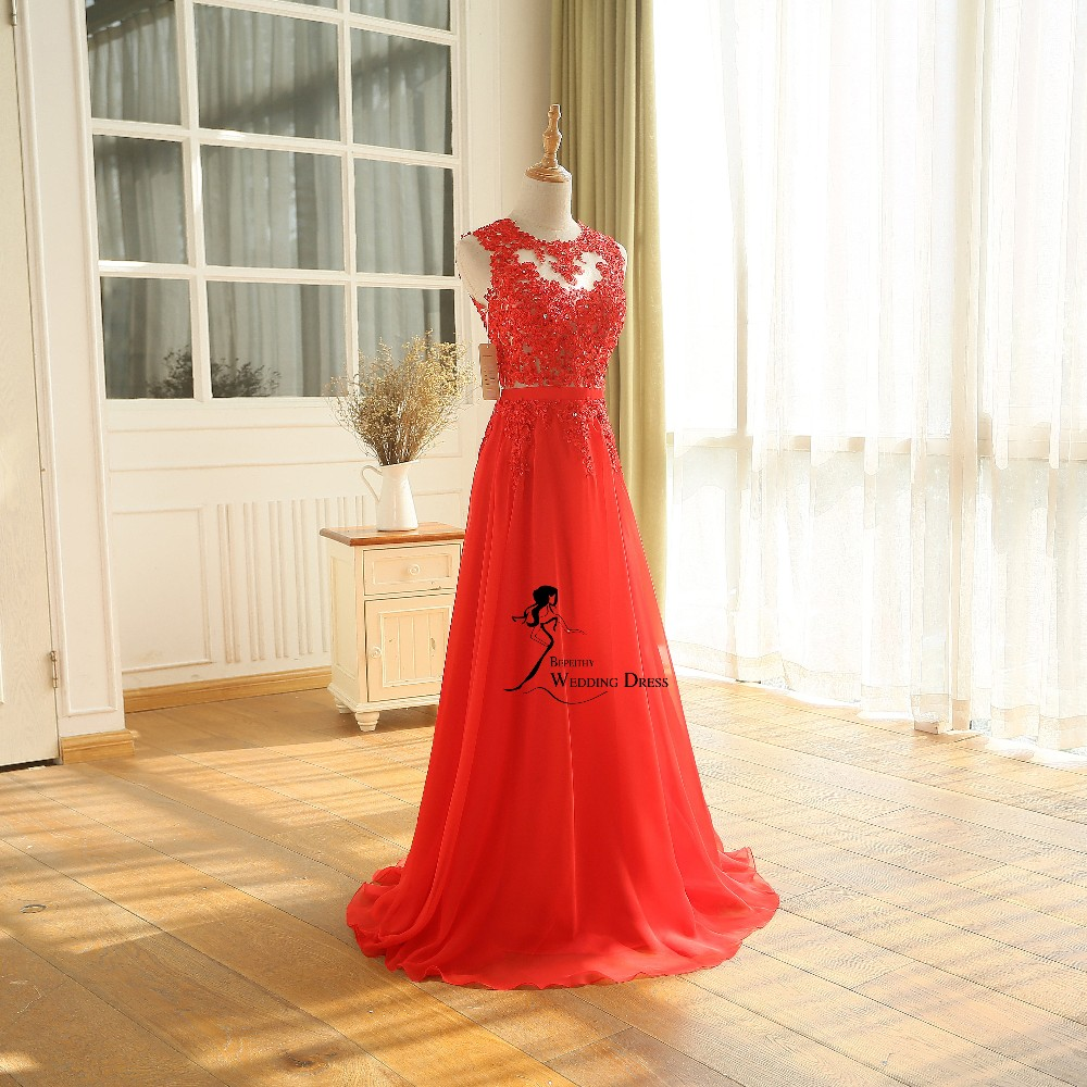 New Arrival Robe De Soiree A line Pink Chiffon Long Evening Dress Party Elegant Sexy Sheer Back Real Image Sleeveless Prom Gown 2016 (21)