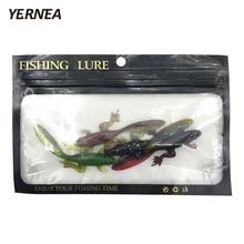 Yernea 4Pcs/Lot 3.7g 4 Colors Soft Fishing Lure Frog Tadpole Soft Bait Imitation Fish Bionic Lifelike Fishy Smell Road Bait стоимость