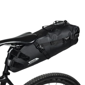 RHINOWALK 10L Full Waterproof Bicycle Saddle Bag Road Mountain Bike Cycling Rear Rack Bag Luggage Pannier Bike Accessories