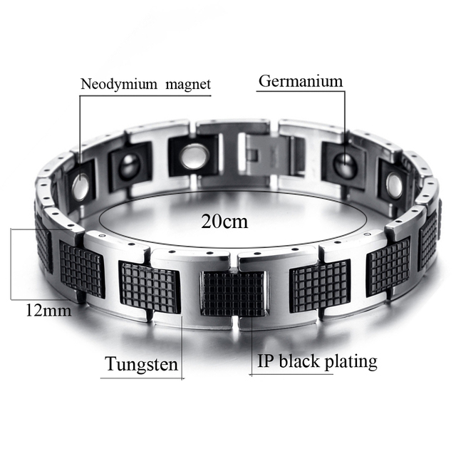 Tungsten Health Energy Magnetic Stone Germanium Bracelet