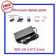 30 V 2A 60 Вт Универсальный переменный ток адаптер Зарядное устройство Питание 5,5*2,1 мм 5,5x2,1 мм DC Штепсель