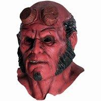 Hellboy Máscara Capô Halloween Máscaras de Silicone Realistas cosplay assustador máscara de látex capuz mascara terror vestido de festa máscara facial