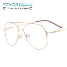 3a836476362f Metal Double Bridge Medium Sun Glasses Frame Men Pilot Spectacles For  Prescription Sunglasses Driving Multifocal Lenses