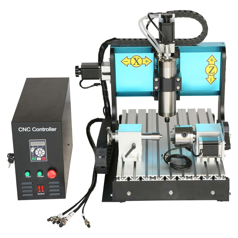 JFT Industrial CNC 3040 Router 4 Axis 800W USB Port Engraving Machines Woodworking Drilling Milling Machine For Woods Plastic  jft cnc router 3040 600w 4 axis with usb 2 0 port high precision mini jewelry cnc router wood engraving drilling milling machine