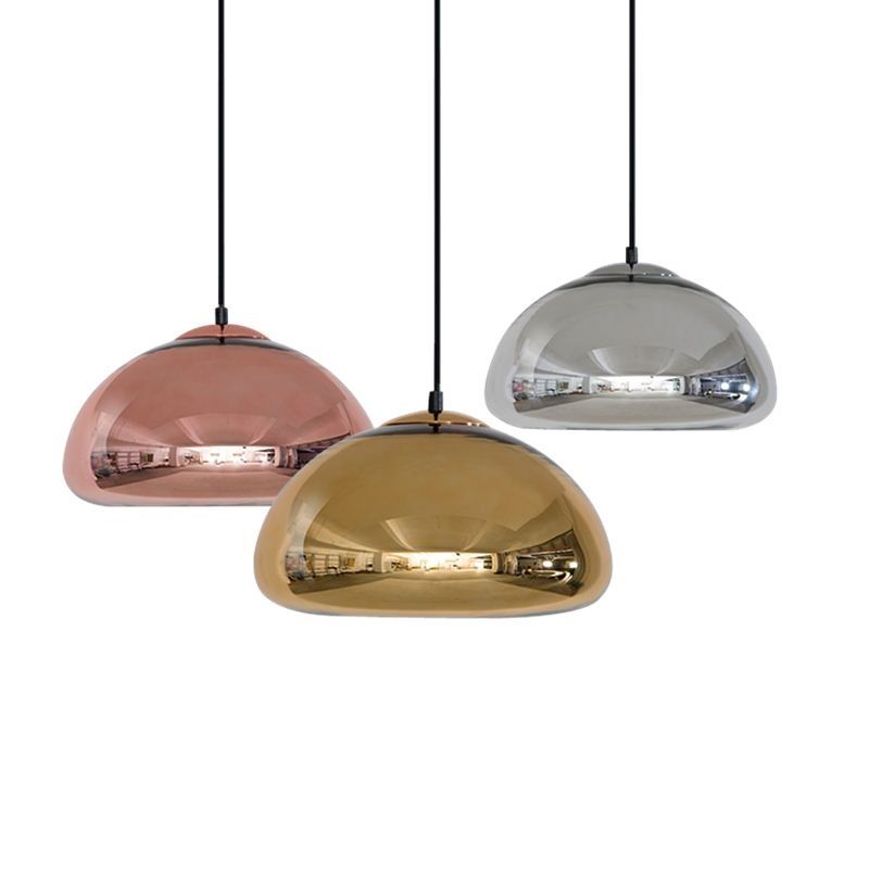 Modern pumpki Pendant Light 3 head glass lampshade chrome gold diningroom hanging Lamp Lamparas droplamp post Modern droplight