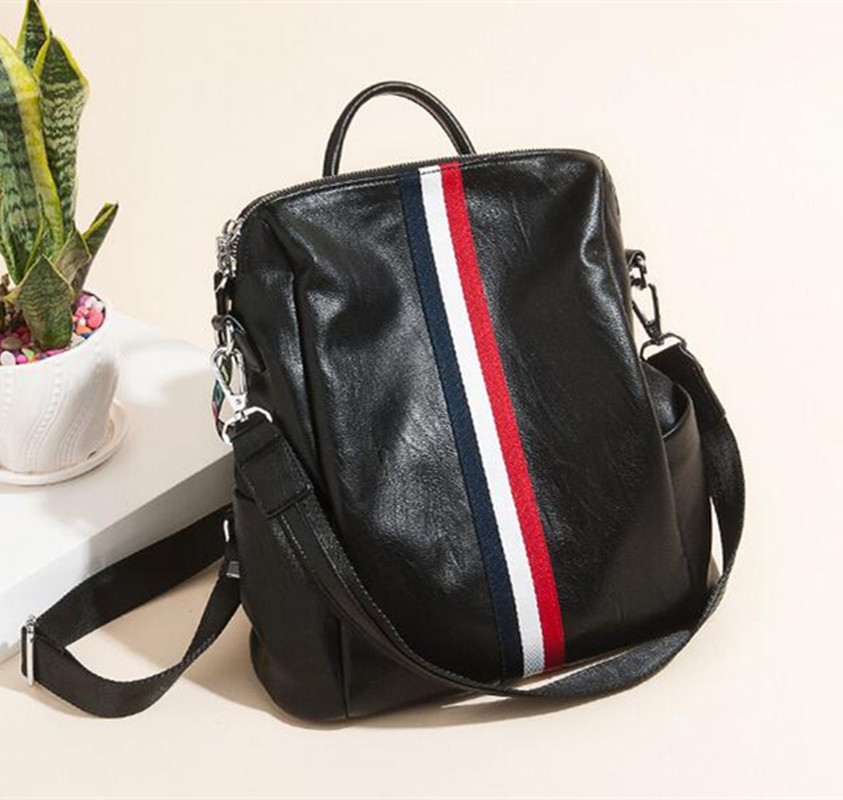 DOODOO New Arrival Women Casual Backpacks Preppy Style School Bag For Girl mochila feminina School Backpack D531 doodoo fashion streaks women casual bear backpacks pu leather school bag for girl travel bags mochilas feminina d532
