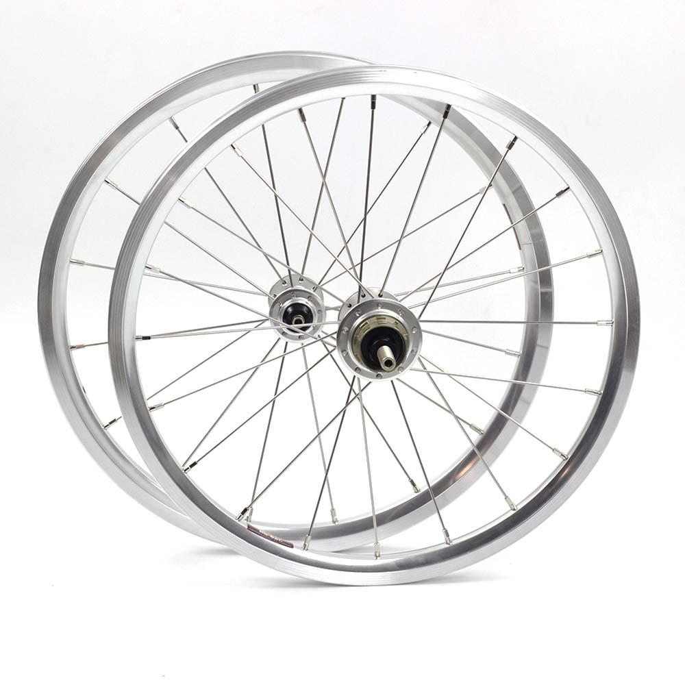 bike Wheelset 1-3 Speed 16 x1 3/8 349 kinlin nbr rim 14H/21H for 3sixty Brompton Ultralight Folding Bike wheels 800g DIYbike Wheelset 1-3 Speed 16 x1 3/8 349 kinlin nbr rim 14H/21H for 3sixty Brompton Ultralight Folding Bike wheels 800g DIY