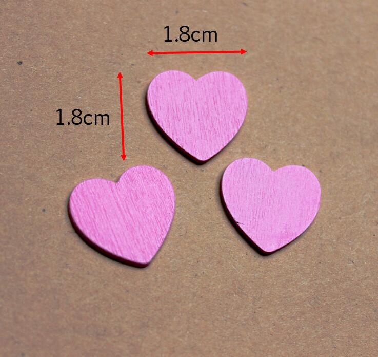 100pcs Mini Wooden Love Heart Art DIY Craft Wedding Card Making Scrap Booking Baby Wood Heart Only 1.8 x 1.8 cm