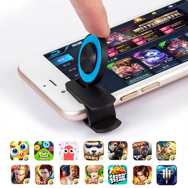 US $1 1 52% OFF 1Pcs Game Trigger Fling Mini Joystick For All Touch Screen  Phone for iPhone Android Phone Gaming Legend And More-in Gamepads from