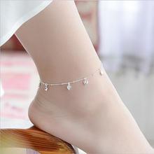 Tjp милые серебряные браслеты с сердечками для девушек ювелирные