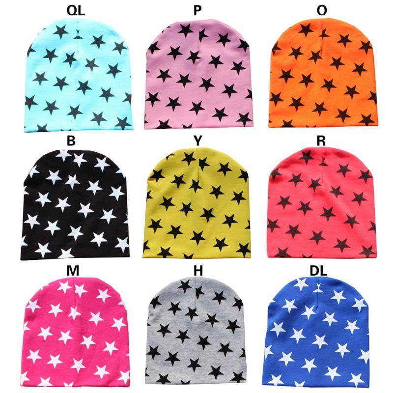 Winter Newborns Warm Toddler Infant Cotton Warm Hat Girls Boys Beanie Hats Stars Printed Cap