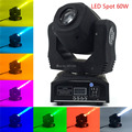 MiNi Spot 60W LED Spot Moving Head Light with 9/11 channels for DMX Strobe Effect Stage Lighting events christmas family