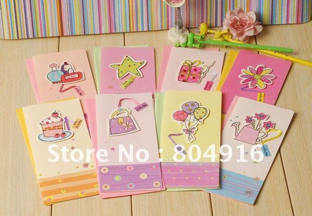 colorful designs blessing cards birthday card greeting card 50setslot randomly delivery st0573 - Birthday Card Delivery
