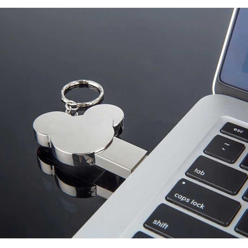 القلب USB فلاش حملة fashion16GB 8 جيجابايت 32 جيجابايت 4 جيجابايت 64 جيجابايت الفضة معدن بندريف ذاكرة فلاش عصا القلم محرك usb عصا القرص الساخن بيع